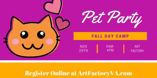 Fall Day Camp - Pet Party