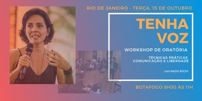 Workshop de oratória TENHA VOZ RJ