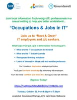 Meet & Greet,  IT Employers, Discover IT Occupations as a Jobseeker,