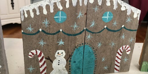 Gingerbread Houses  Pallet Paint Party at Chick-fil-A!