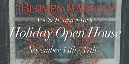 Holiday Open House - Thursday Cocktail Hour