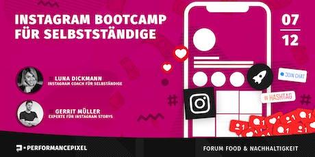 Instagram Bootcamp für Selbstständige Tickets
