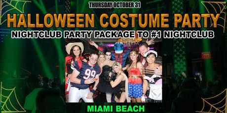 Halloween VIP Party Package Deal to #1 Nightclub in Miami Beach tickets