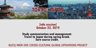 [info session] Travel to Tokyo with BUCO/MOR 499 - Spring 2020