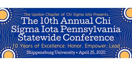 10th Annual Chi Sigma Iota Pennsylvania Statewide Conference