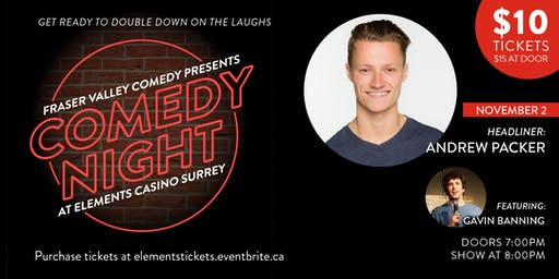 Comedy Night at Elements Casino Surrey