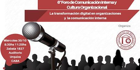 6º Foro de Comunicación Interna y Cultura Organizacional entradas