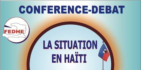 Conférence débat Haiti billets