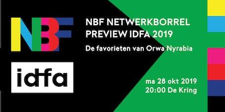 NBF Netwerkborrel - De favorieten van Orwa Nyrabia tickets