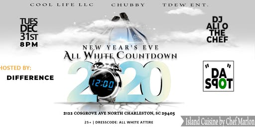 All WHITE Countdown NYE Party