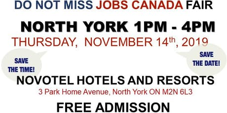 FREE: North York Job Fair – November 14th, 2019 tickets
