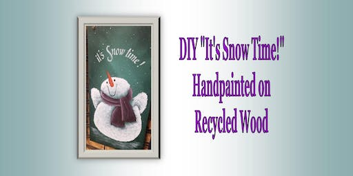"DIY ""It's Snow Time!"" Folk Art Design"