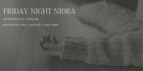 Friday Night Nidra & Massage tickets