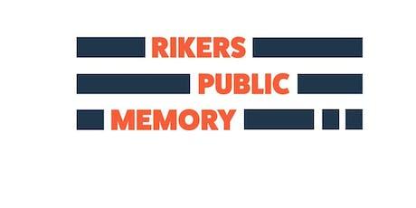 Rikers Oral History Volunteer Training tickets