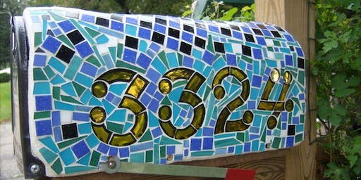 Mosaic Mailbox or House Numbers