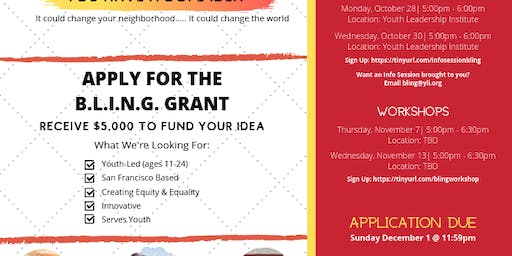 Application Workshop| B.L.I.N.G. Grant