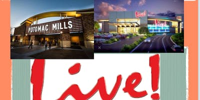Potomac Mills, Arundel Mills and Maryland Live Casino Bus Trip