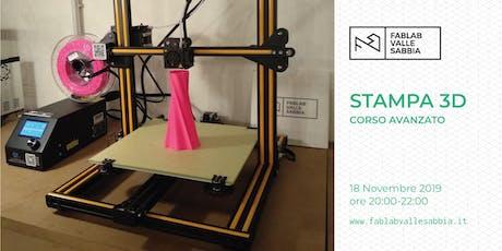 Stampa 3D - Corso avanzato biglietti