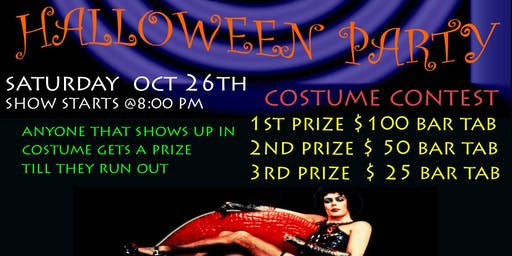 Miss Kathy's L Z Halloween Party Top 3 Costumes Win $100 $50 $ 25 Live Band