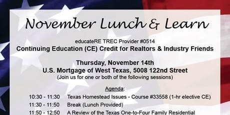 CE Lunch and Learn 2 November tickets
