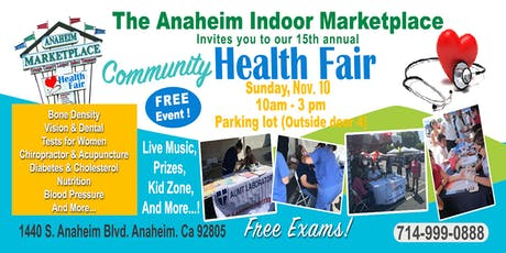 Free Health Fair at Anaheim Marketplace tickets