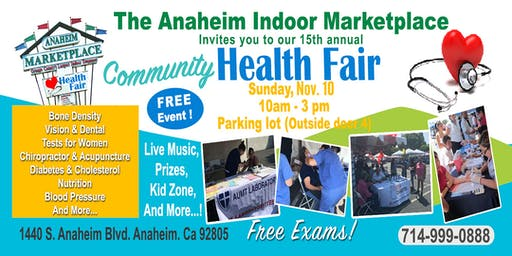 Free Health Fair at Anaheim Marketplace