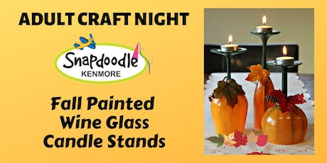 Fall Painted Wine Glass Candle Stands tickets