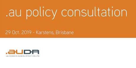 .au Policy Consultation October 2019 - Brisbane tickets