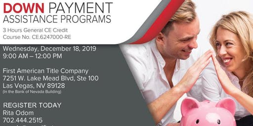 Does Your Client Qualify? Down Payment Assistance Programs 12/18