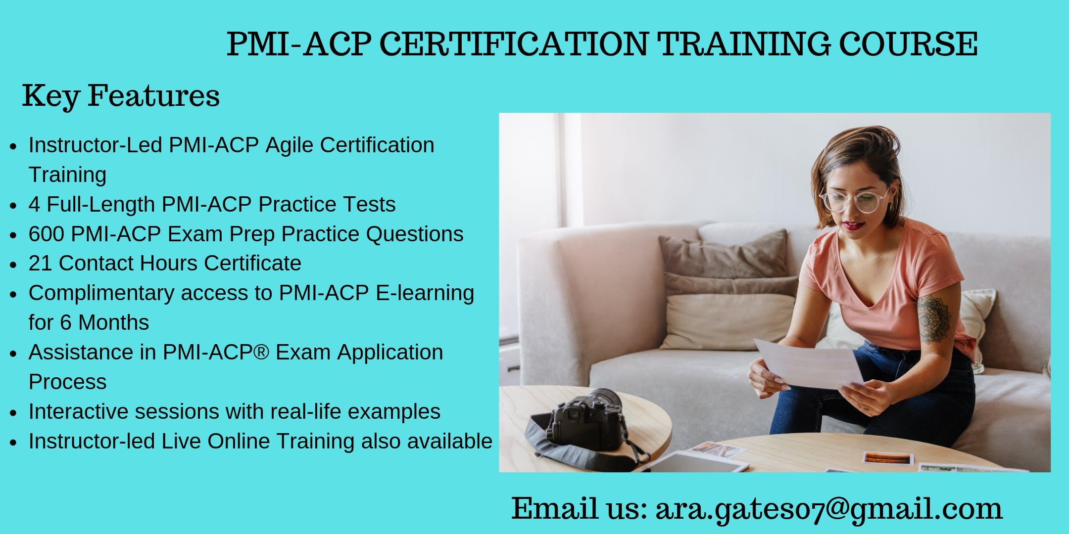 PMI-ACP Exam Prep Course in Parkersburg, WV