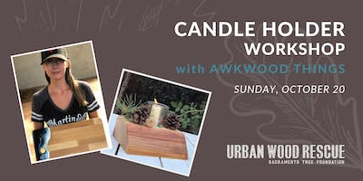 DIY Candle Holders with Awkwood Things