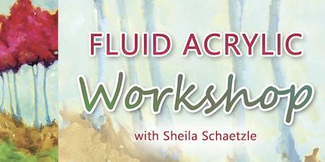Fluid Acrylic Workshop with Sheila Schaetzle tickets