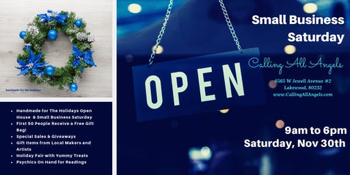 Small Business Saturday and Handmade for the Holidays Open House