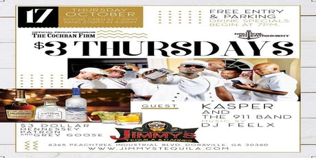 """Three Dollar Thursday Featuring """"Kasper and the 911 Band"""" tickets"""