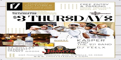 """Three Dollar Thursday Featuring """"Kasper and the 911 Band"""""""