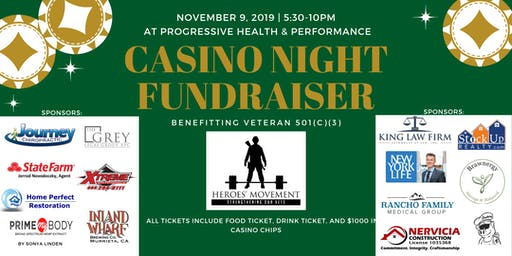 Heroes' Movement Casino Night