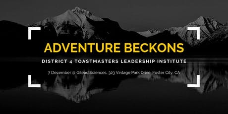 District 4 Toastmasters Leadership Institute - December 2019 tickets
