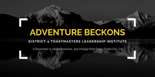 District 4 Toastmasters Leadership Institute - December 2019