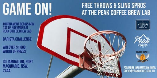 Free Throws & Sling Spros @ Peak Coffee