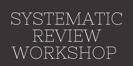 SCPOR Systematic Review Workshop tickets