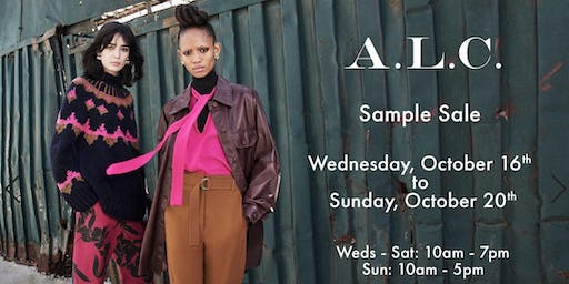 A.L.C. Sample Sale