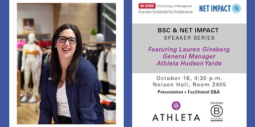 BSC Speaker Series Featuring Lauren Ginsberg of Athleta