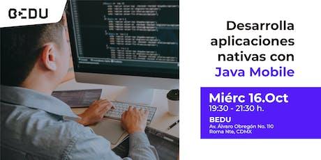 Desarrolla aplicaciones nativas con Java Mobile  boletos