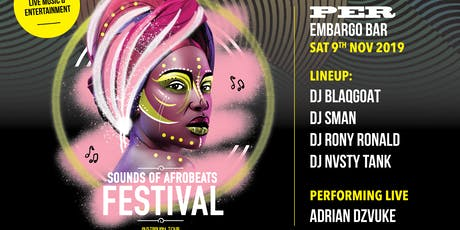 Sounds of AfroBeats Festival Perth - Saturday Nove tickets