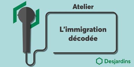 Atelier - L'immigration décodée