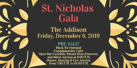 The Feast of St. Nicholas Gala at The Addison tickets