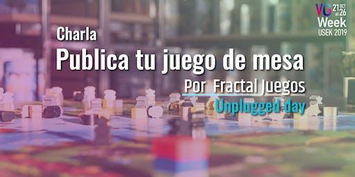 Publica tu juego de mesa - Unplugged day VG Week 2019