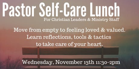 Pastor Self-Care Lunch tickets