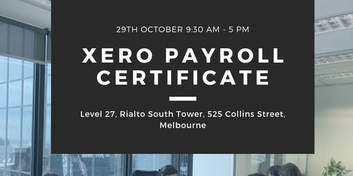 Become a XERO Payroll Officer in ONE day!