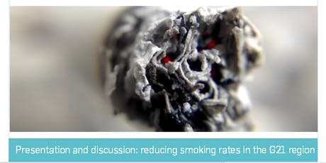 Presentation and discussion: reducing smoking rates in the G21 region tickets